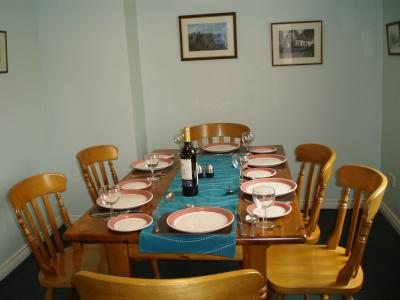 The Dining Room in Trostan Cottage
